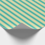 [ Thumbnail: Pale Goldenrod and Light Sea Green Pattern Wrapping Paper ]