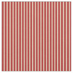 [ Thumbnail: Pale Goldenrod and Red Pattern of Stripes Fabric ]