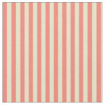 [ Thumbnail: Pale Goldenrod and Salmon Stripes Fabric ]
