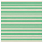 [ Thumbnail: Pale Goldenrod and Sea Green Lines Fabric ]