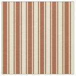 [ Thumbnail: Pale Goldenrod and Sienna Lines/Stripes Pattern Fabric ]