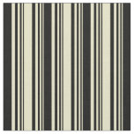 [ Thumbnail: Pale Goldenrod & Black Colored Lines Fabric ]