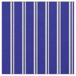 [ Thumbnail: Pale Goldenrod & Blue Stripes Fabric ]