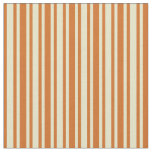 [ Thumbnail: Pale Goldenrod & Chocolate Striped/Lined Pattern Fabric ]