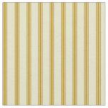 [ Thumbnail: Pale Goldenrod & Dark Goldenrod Stripes Fabric ]