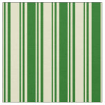[ Thumbnail: Pale Goldenrod & Dark Green Pattern Fabric ]