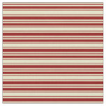 [ Thumbnail: Pale Goldenrod & Dark Red Colored Lines Fabric ]