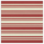 [ Thumbnail: Pale Goldenrod & Dark Red Colored Striped Pattern Fabric ]