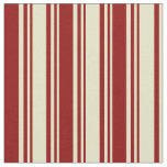 [ Thumbnail: Pale Goldenrod & Dark Red Colored Stripes Pattern Fabric ]