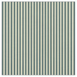 [ Thumbnail: Pale Goldenrod & Dark Slate Gray Colored Stripes Fabric ]