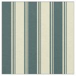 [ Thumbnail: Pale Goldenrod & Dark Slate Gray Stripes Pattern Fabric ]
