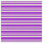 [ Thumbnail: Pale Goldenrod & Dark Violet Pattern Fabric ]