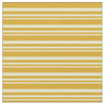 [ Thumbnail: Pale Goldenrod & Goldenrod Lines/Stripes Pattern Fabric ]