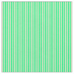 [ Thumbnail: Pale Goldenrod & Green Colored Stripes Fabric ]