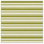 [ Thumbnail: Pale Goldenrod & Green Lines/Stripes Pattern Fabric ]