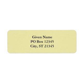 Pale Goldenrod Label