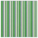[ Thumbnail: Pale Goldenrod, Light Slate Gray & Forest Green Fabric ]