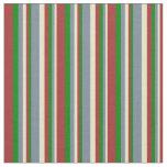 [ Thumbnail: Pale Goldenrod, Light Slate Gray, Green & Brown Fabric ]