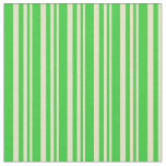 [ Thumbnail: Pale Goldenrod & Lime Green Colored Lines Fabric ]