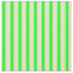 [ Thumbnail: Pale Goldenrod & Lime Stripes Fabric ]