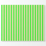 [ Thumbnail: Pale Goldenrod & Lime Stripes Wrapping Paper ]