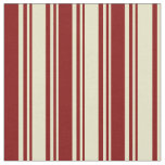 [ Thumbnail: Pale Goldenrod & Maroon Colored Stripes Pattern Fabric ]