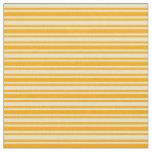 [ Thumbnail: Pale Goldenrod & Orange Lined Pattern Fabric ]