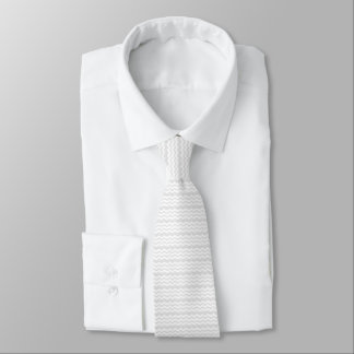 pale gray and white zigzag pattern design wedding tie