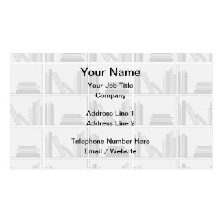 Pale Gray Books on Shelf. Double-Sided Standard Business Cards (Pack Of 100)