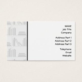 Pale Gray Books on Shelf. Business Card