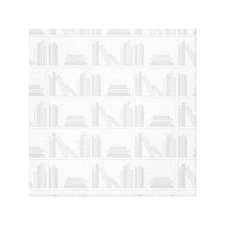 Pale Gray Books on Shelf. Gallery Wrapped Canvas