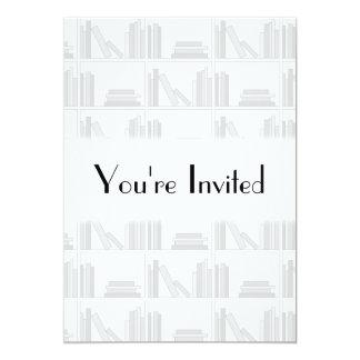 Pale Gray Books on Shelf. Custom Announcements