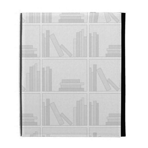 Pale Gray Books on Shelf. iPad Case