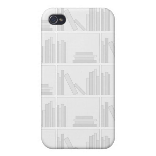 Pale Gray Books on Shelf. iPhone 4/4S Cases