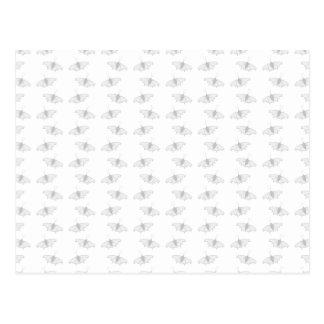 Pale Gray Butterfly Pattern. Postcard
