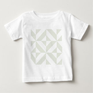 Pale Gray Geometric Deco Cube Pattern Baby T-Shirt