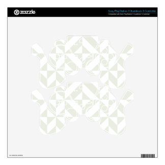 Pale Gray Geometric Deco Cube Pattern PS3 Controller Decals