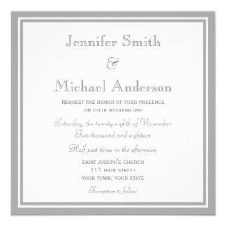 Pale Gray Invitation Wedding