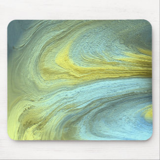 Pale Green Abstract Art Mouse Pad