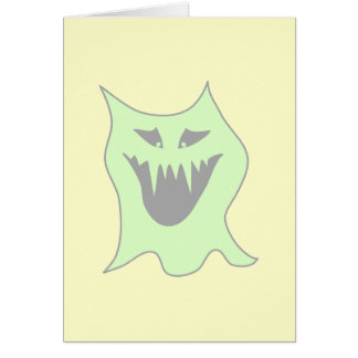 Pale Green and Gray Monster Cartoon Card