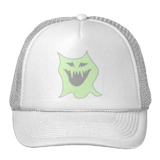 Pale Green and Gray Monster Cartoon Mesh Hat