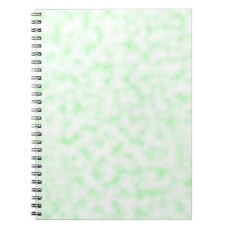 Pale Green and White Abstract Clouds Pattern Notebook
