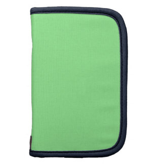 Pale Green Blue Gift Matching Color Folio Planners