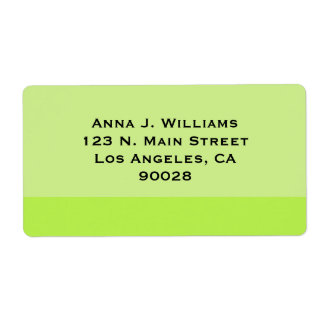 Pale green border label