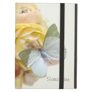 pale green butterfly on flowers iPad kickstand iPad Air Cases