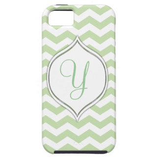 Pale Green Chevron With Your Choice Of 2nd Color iPhone SE/5/5s Case