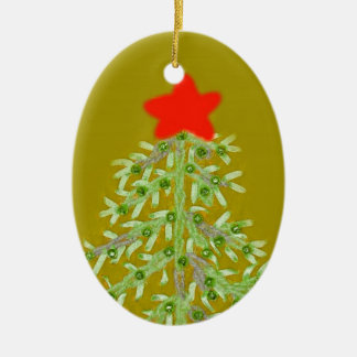 Pale Green Christmas Tree Ornament