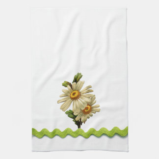 Pale Green Daisy Towel
