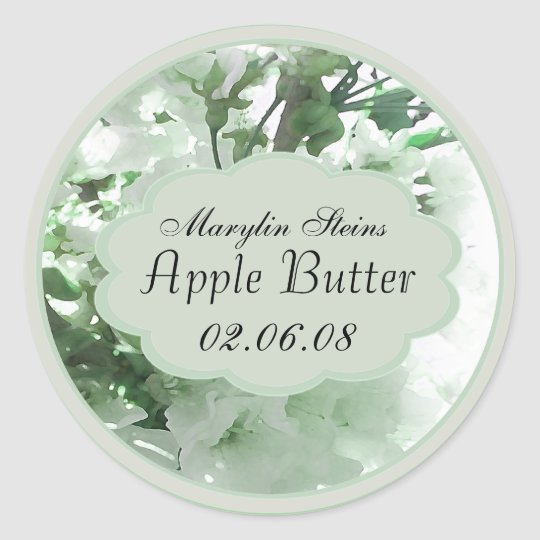 pale green floral canning labels