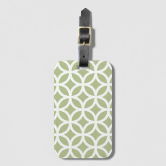 Pale Green Geometric Pattern Baggage Labels Luggage Tag